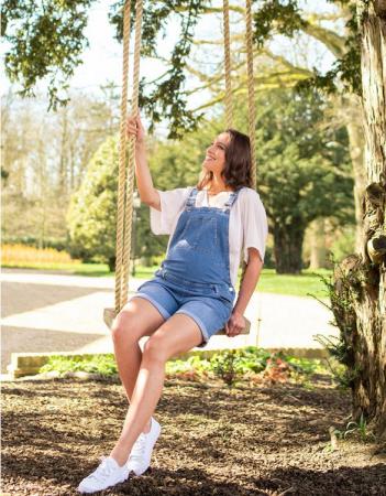 Summer Mama - Salopeta jeans cu pantaloni scurti2
