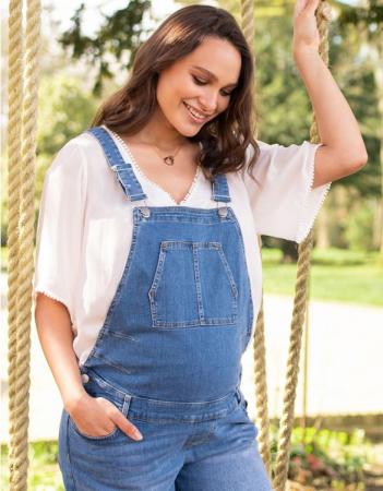 Summer Mama - Salopeta jeans cu pantaloni scurti1