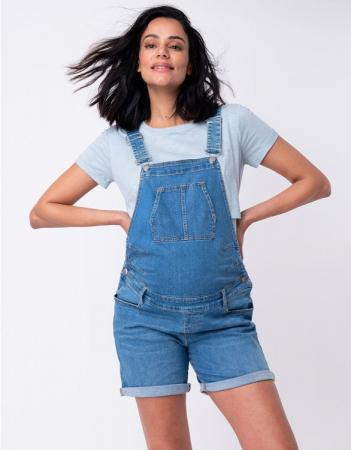 Summer Mama - Salopeta jeans cu pantaloni scurti3