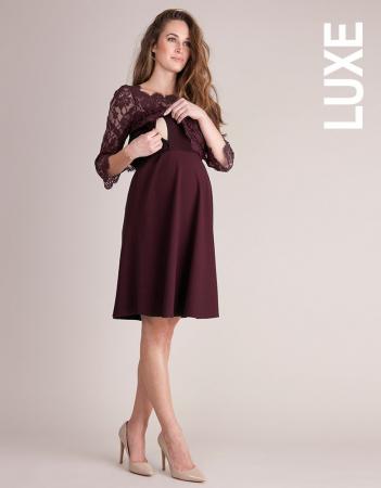 Luxe Burgundy - Rochie Eleganta Gravida & Alaptare, Transport Gratuit1