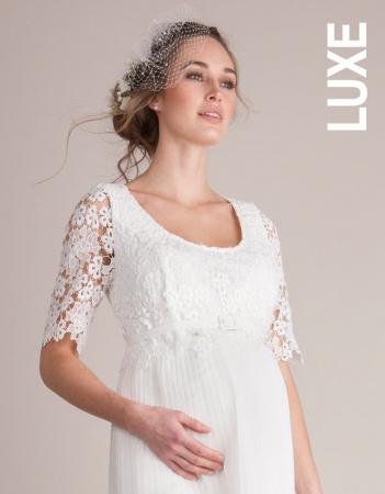 Luxe Ivory - Rochie Premium de Mireasă pentru Gravide si Alaptare - Rochii Cununie Civila - Hotmama.ro [2]