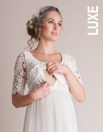 Luxe Ivory - Rochie Premium de Mireasă pentru Gravide si Alaptare - Rochii Cununie Civila - Hotmama.ro [1]