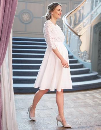 Luxe White Dream - Rochie Premium de Mireasă, bust din dantelă de mătase0