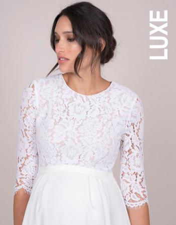 Luxe White Dream - Rochie Premium de Mireasă, bust din dantelă de mătase3