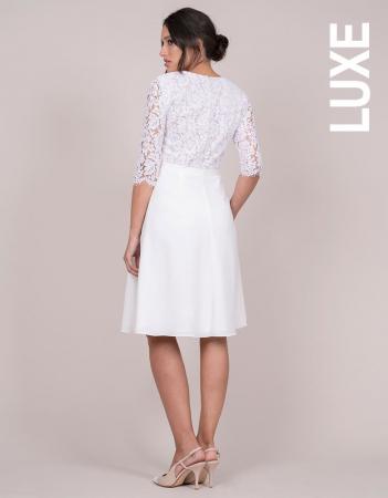Luxe White Dream - Rochie Premium de Mireasă, bust din dantelă de mătase4