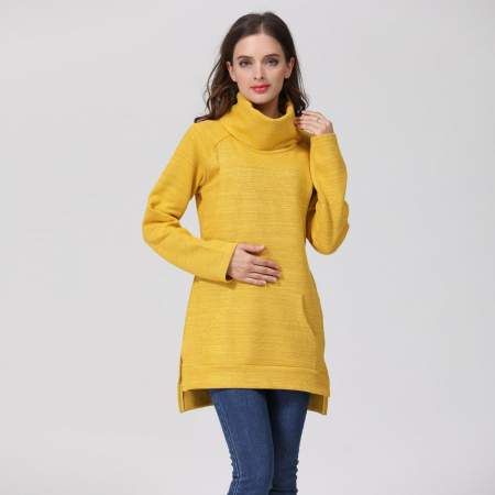 Pulover Gros Yellow Winter - Sarcina & Alaptare0