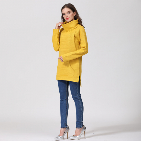 Pulover Gros Yellow Winter - Sarcina & Alaptare8