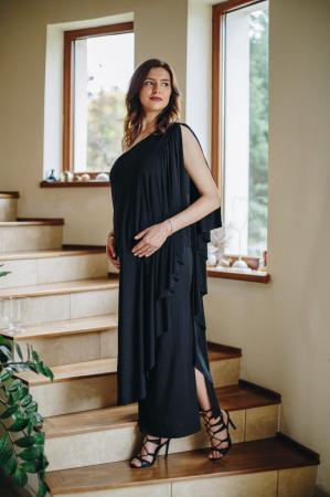 Roma Black - Rochie Eleganta Gravida, marimi mari0