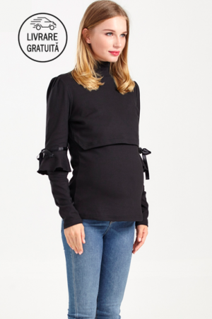 Soft Black - Bluza Gravida & Alaptare, L, Transport Gratuit [0]
