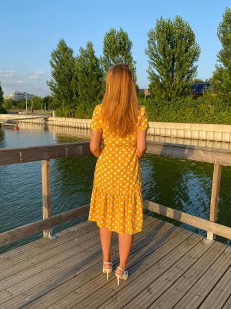 yellow-dots-rochie-eleganta-gravide [3]