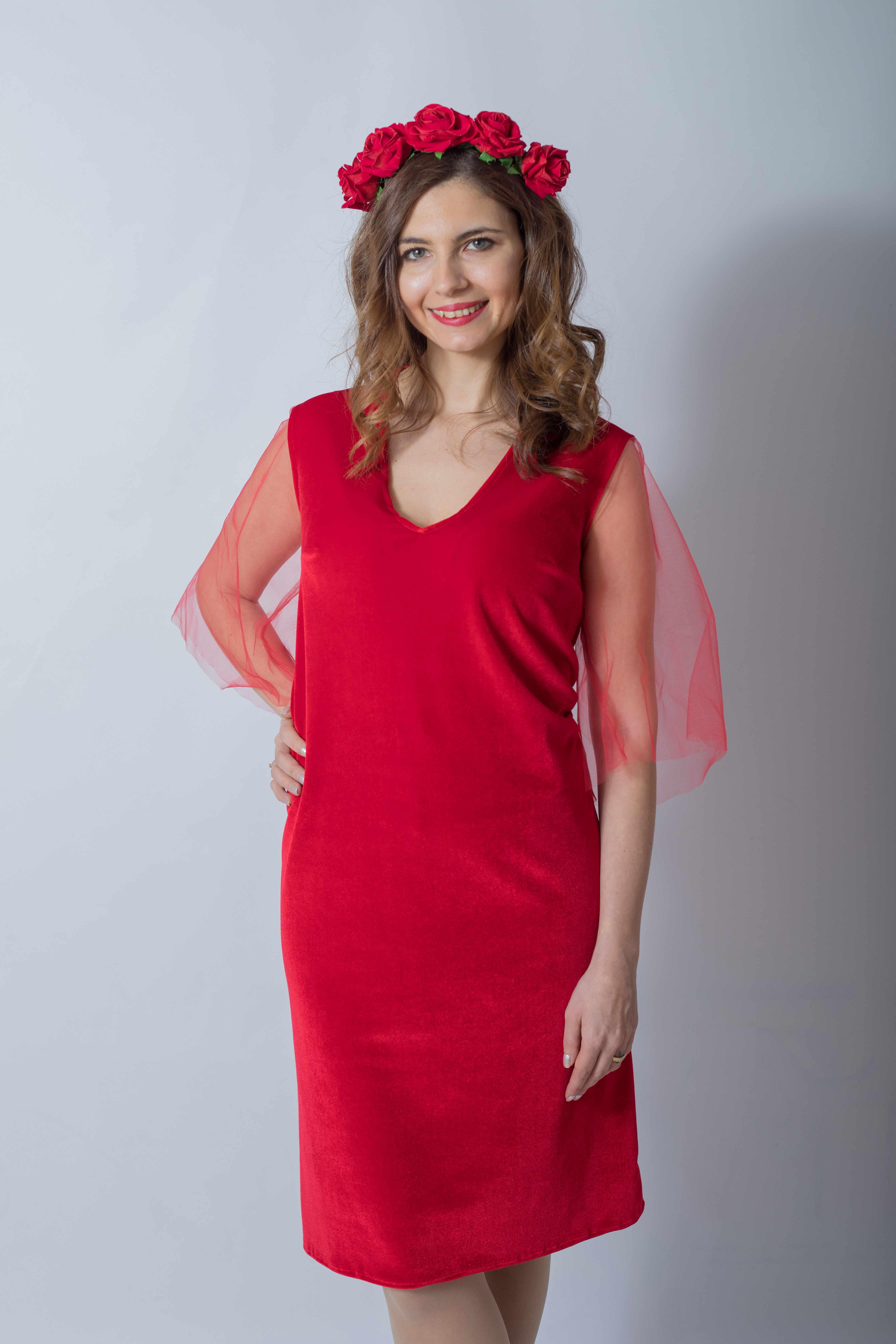 rouge-tulle-rochie-eleganta-gravida-din-catifea-premium-transport-gratuit 1