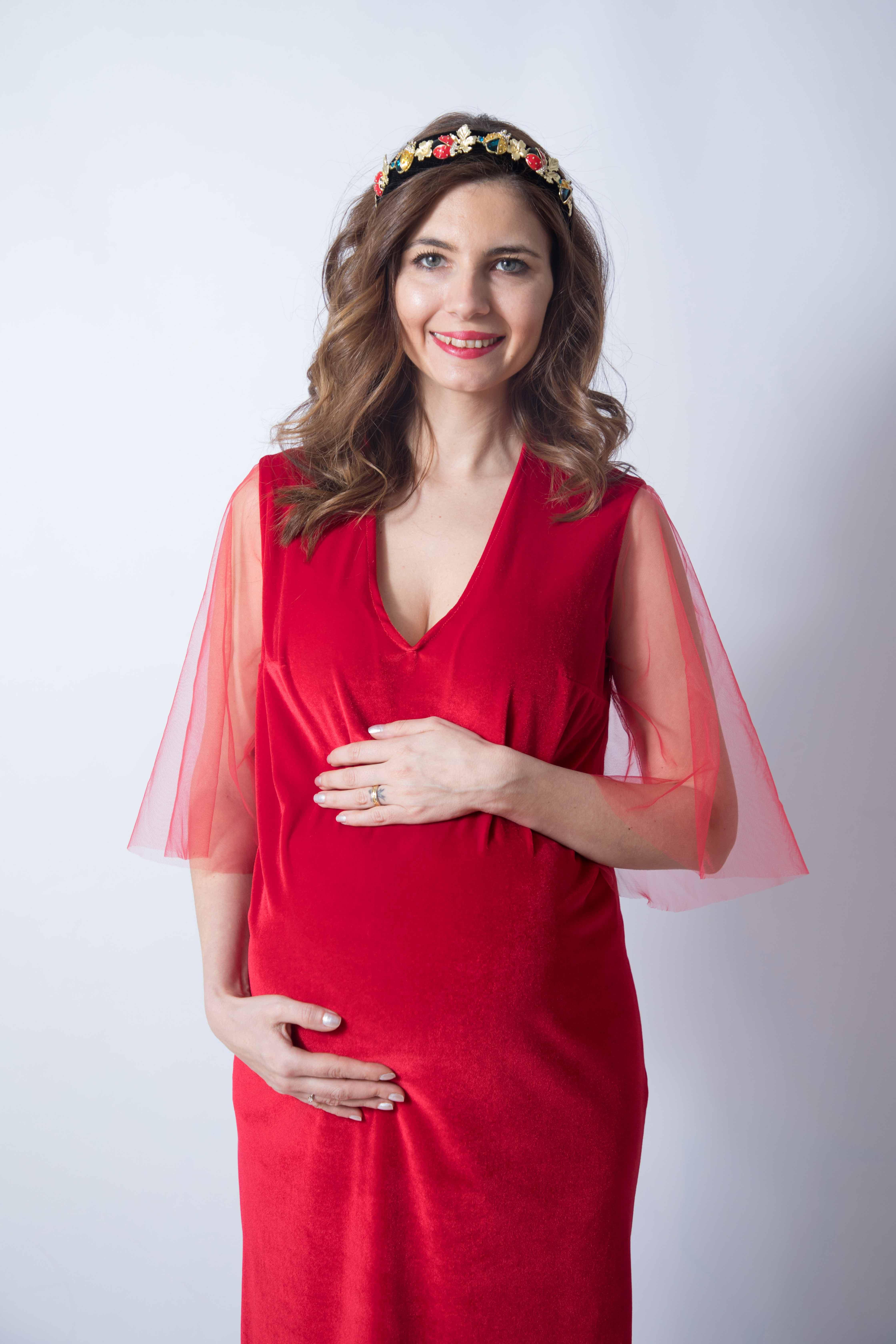 rouge-tulle-rochie-eleganta-gravida-din-catifea-premium-transport-gratuit [2]