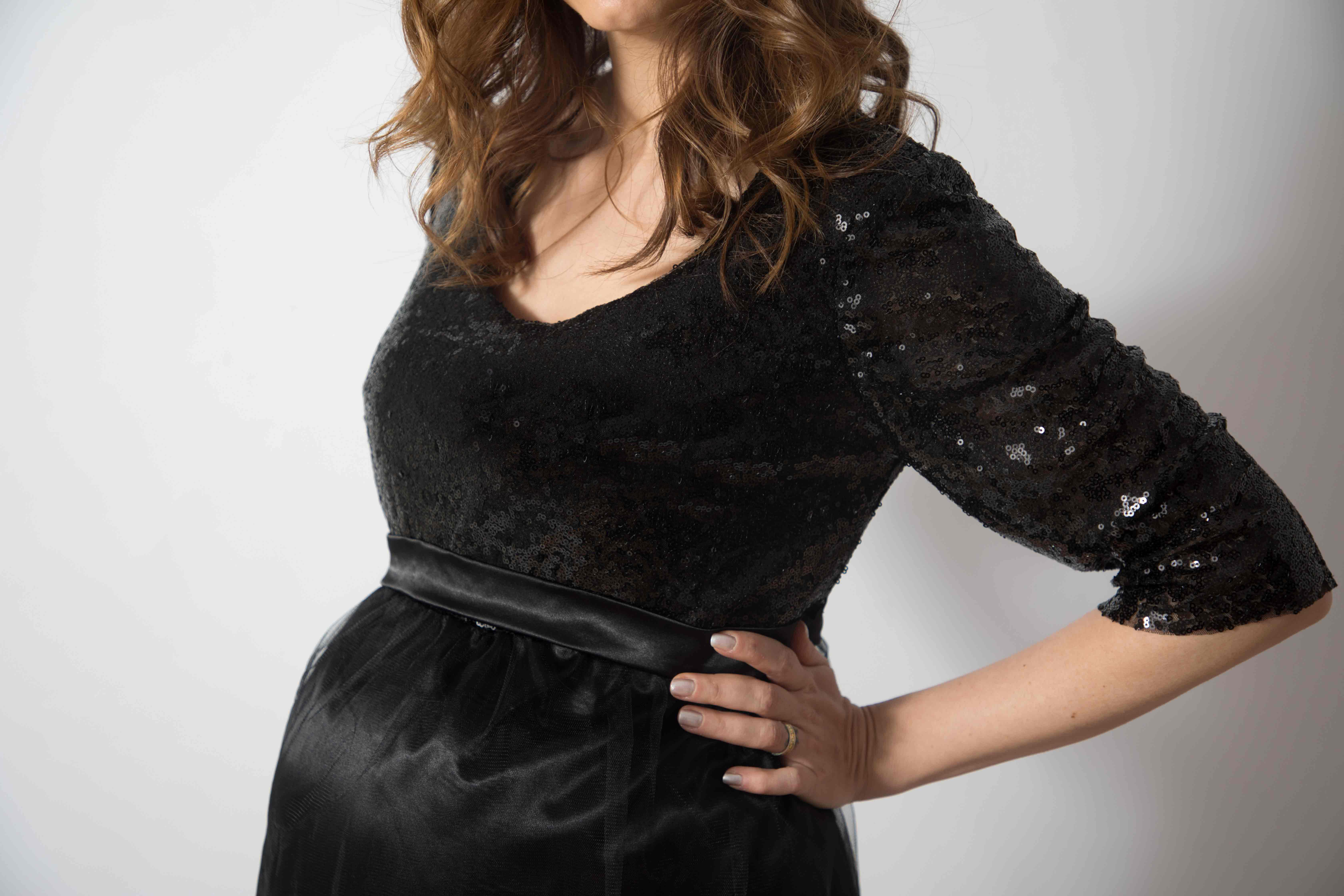 tulle-noire-rochie-eleganta-gravida-cu-paiete-stralucitoare-transport-gratuit 3