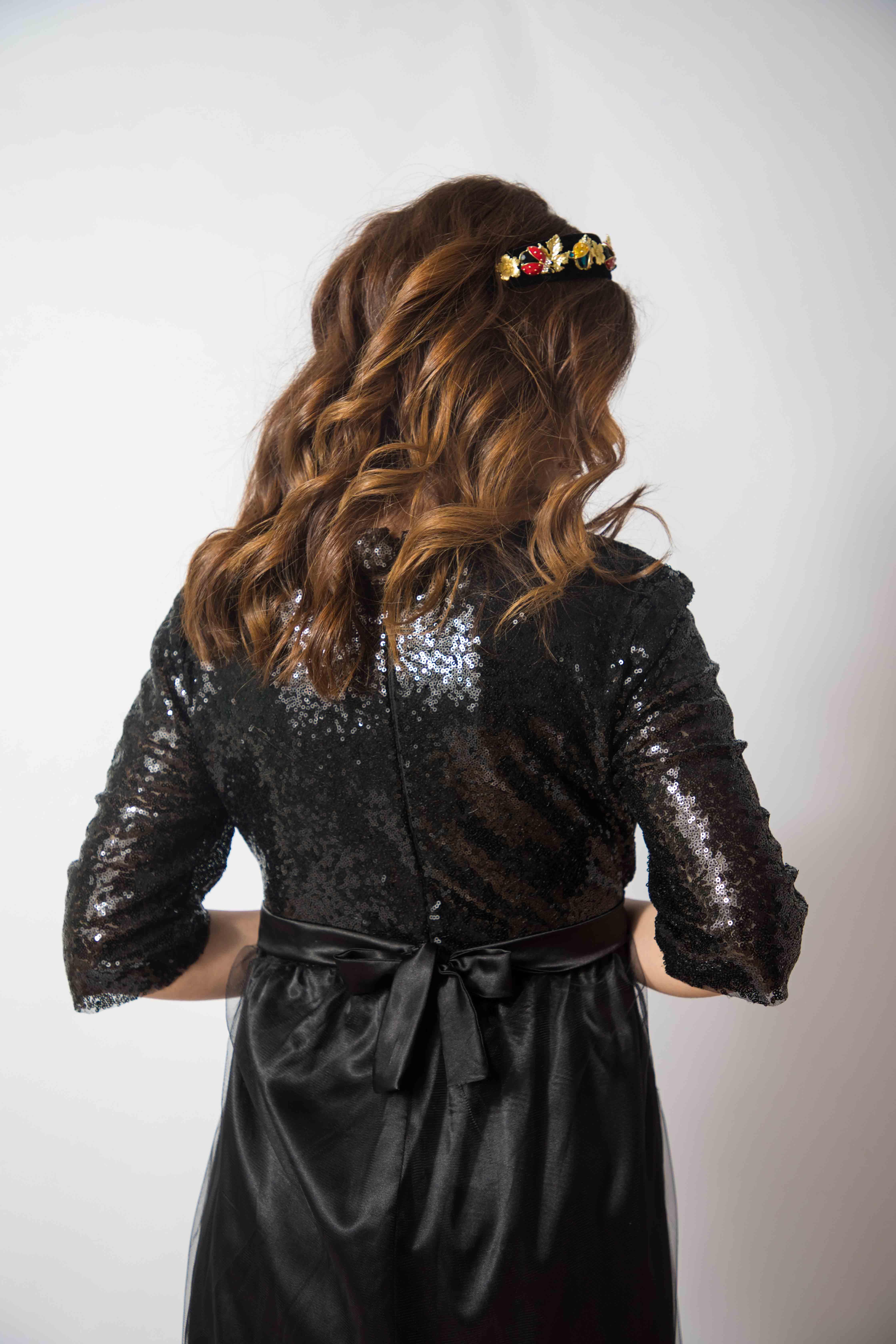 tulle-noire-rochie-eleganta-gravida-cu-paiete-stralucitoare-transport-gratuit 5