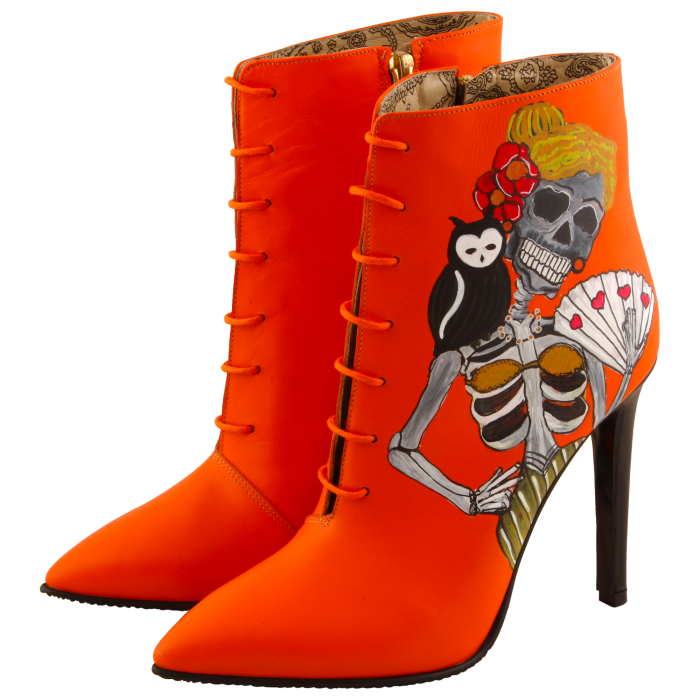 Botine pictate Halloween Valley of the Dead 2