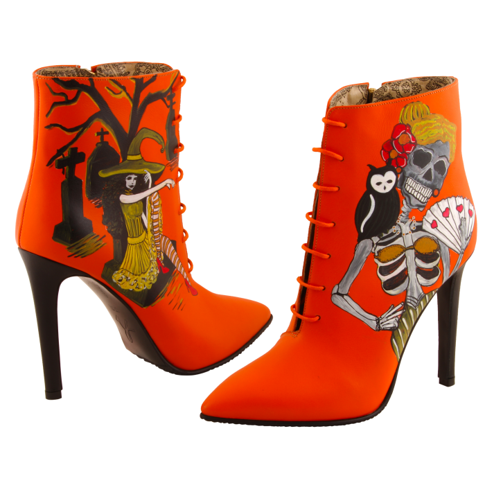 Botine pictate Halloween Valley of the Dead 3