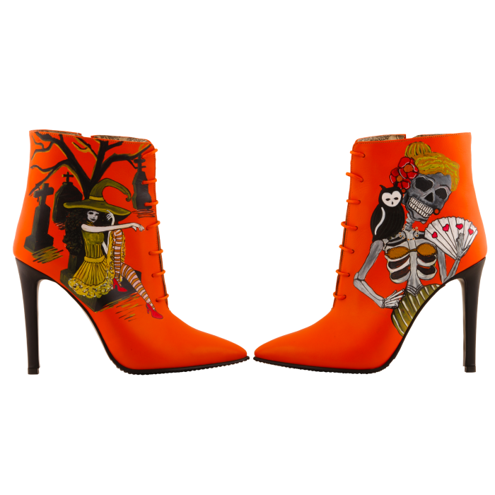 Botine pictate Halloween Valley of the Dead 4
