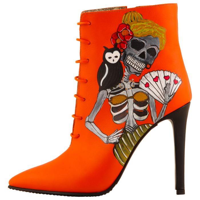 Botine pictate Halloween Valley of the Dead 0