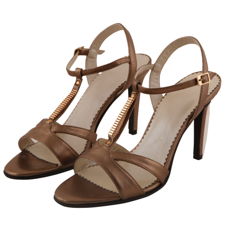Sandale Allure Metallic Brown2