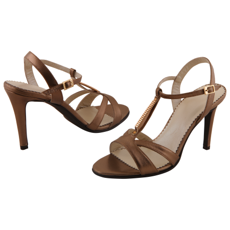 Sandale Allure Metallic Brown3