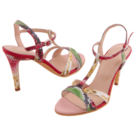 Allure Red Tropical Print2