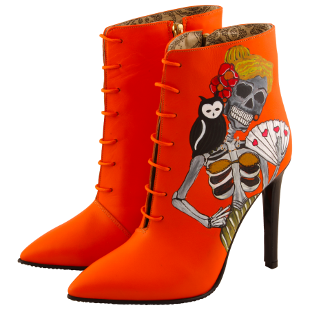 Botine pictate Halloween Valley of the Dead2