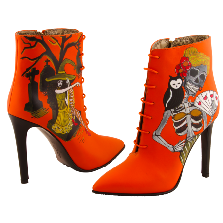 Botine pictate Halloween Valley of the Dead3