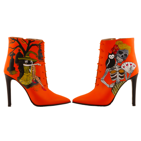 Botine pictate Halloween Valley of the Dead4