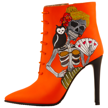 Botine pictate Halloween Valley of the Dead0