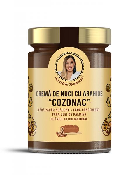 """Cremă de nuci cu arahide, stafide și rom """"COZONAC"""" 350 gr [0]"""