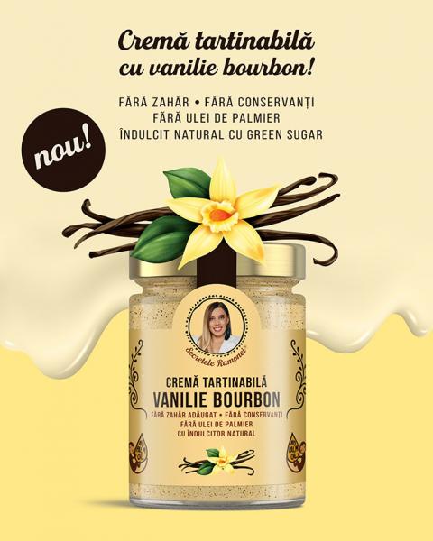 Cremă tartinabilă vanilie bourbon 350 gr [0]