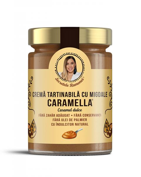 Cremă tartinabilă CARAMELLA cu migdale și aromă de caramel 350 gr [0]