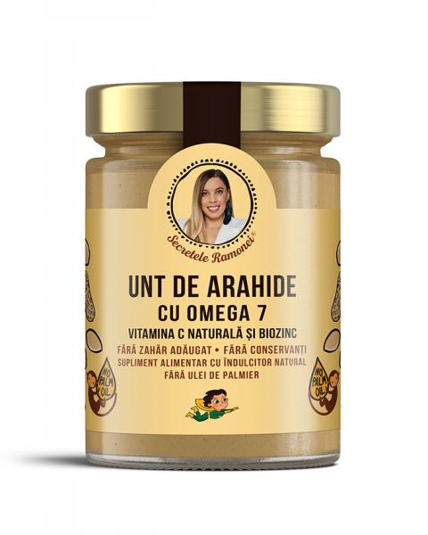 Unt de arahide cu omega 7, Vitamina C naturală și Biozinc 350 gr [0]