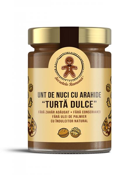 Cremă tartinabilă unt de nuci cu arahide Turtă Dulce 350 gr [0]