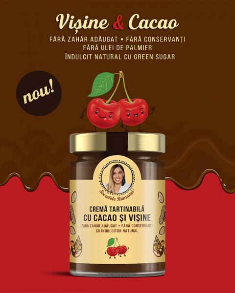 Cremă tartinabilă cu cacao și vișine 350 gr [1]