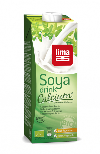 Bautura vegetala de soia cu calciu eco 1L Lima [0]