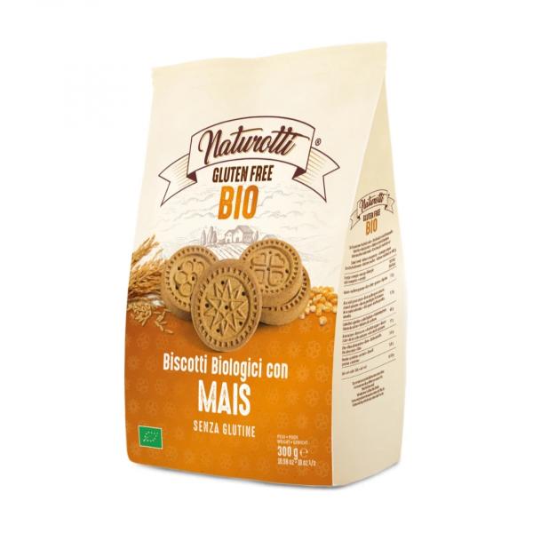 Biscuiti cu porumb eco, fara gluten 300g Naturotti [0]