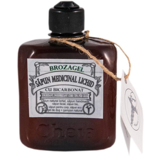 Brozagel săpun medicinal lichid cu bicarbonat ( gel de duș + șampon natural) [0]