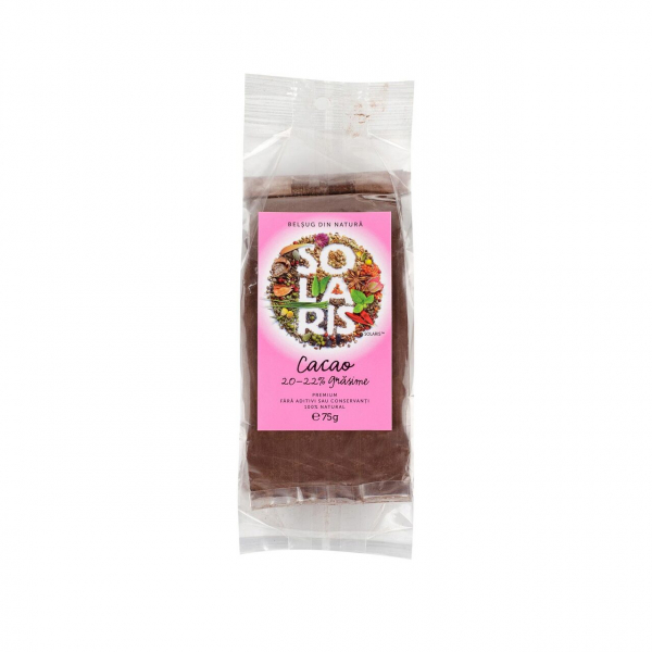 Cacao premium 20-22% grăsime 75 gr Solaris [0]