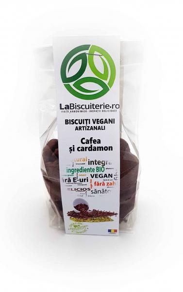 Biscuiți vegani fără zahăr cu cafea și cardamon 140 gr [0]