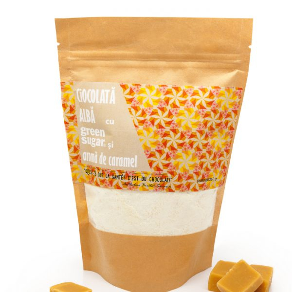 Ciocolată albă Caramel și Green Sugar 250 gr [1]