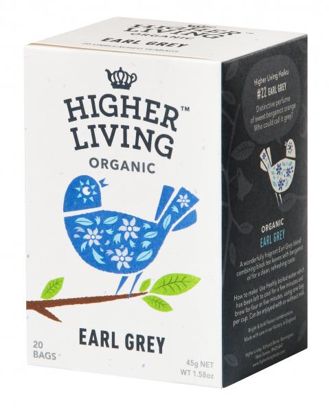 Ceai EARL GREY eco, 20 plicuri, Higher Living [0]