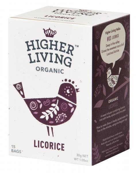 Ceai lemn dulce eco, 15 plicuri, Higher Living [0]