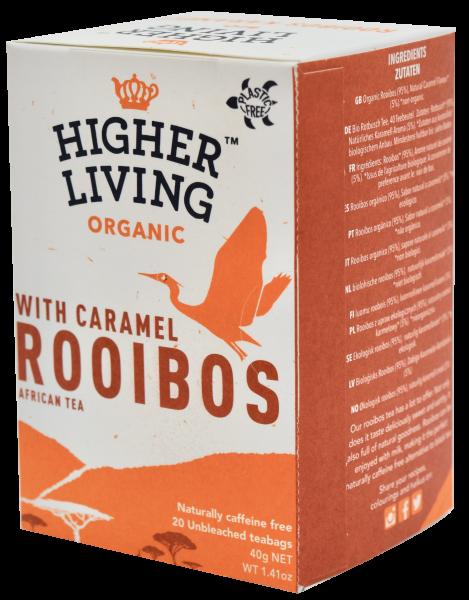 Ceai ROOIBOS si CARAMEL eco, 20 plicuri, Higher Living [0]