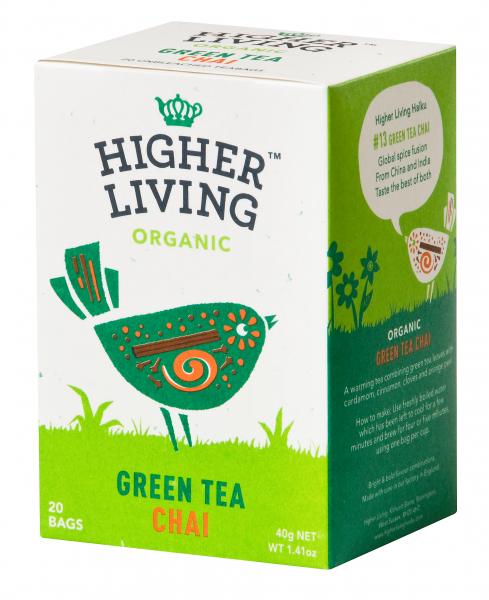 Ceai verde - CHAI - eco, 20 plicuri, Higher Living [0]