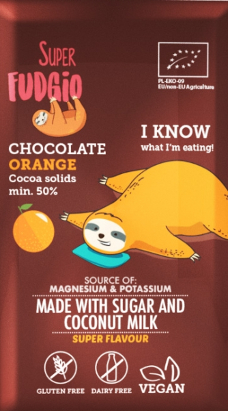 Ciocolata cu portocale bio 80g Super Fudgio [0]