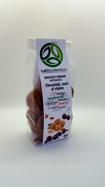 Biscuiți vegani fără zahăr cu ciocolată, nuci și vișine [0]