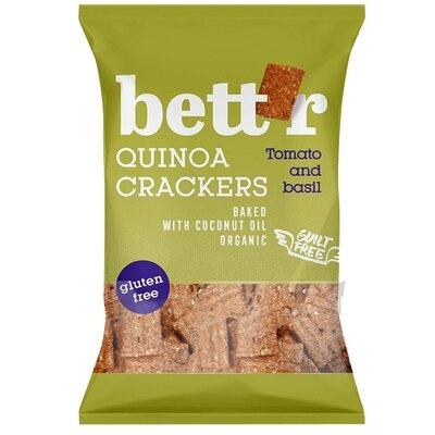 Crackers cu quinoa, rosii si busuioc fara gluten eco 100g Bettr [0]