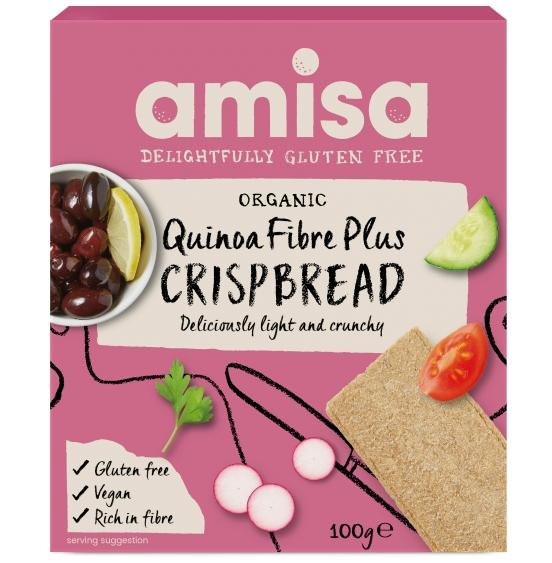Crispbread (painici) cu quinoa Fibre Plus fara gluten bio 100g [0]