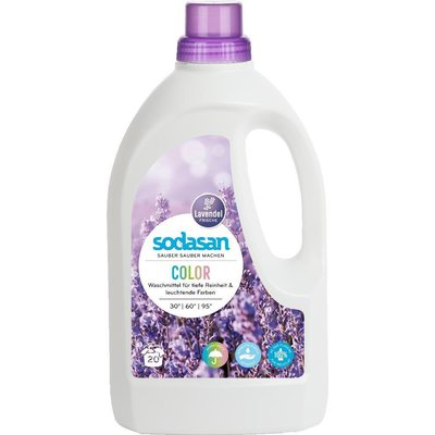 Detergent bio lichid rufe albe si color lavanda 1.5l Sodasan [0]